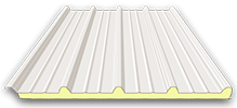 insulated roof panel with trapezoidal profile